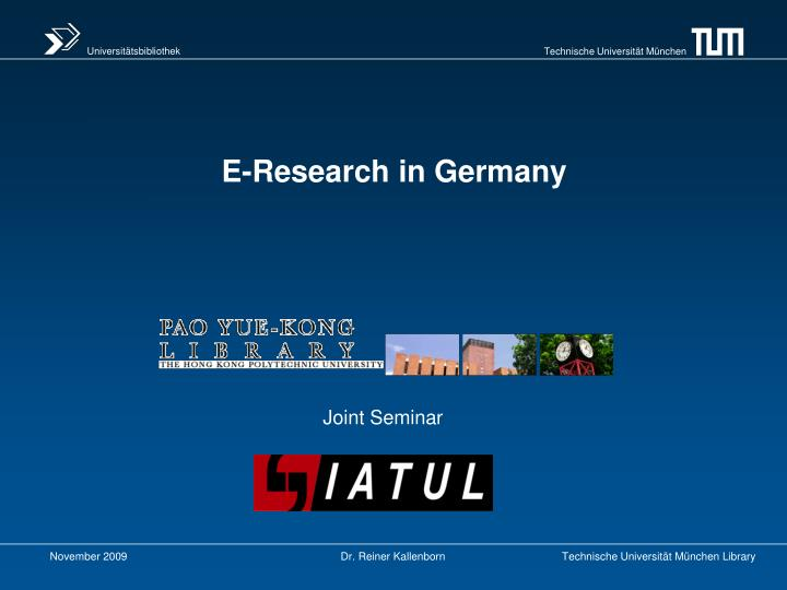 e research in germany