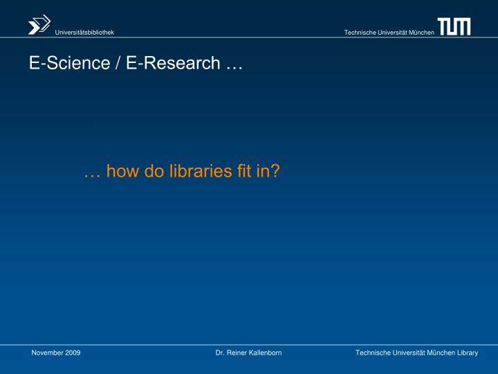 … how do libraries fit in?