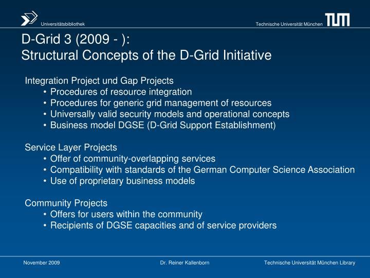 D-Grid 3 (2009 - ):