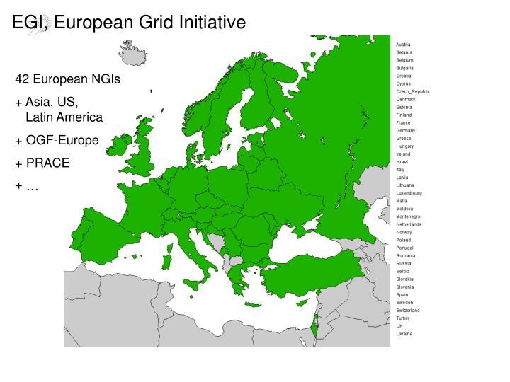 EGI, European Grid Initiative