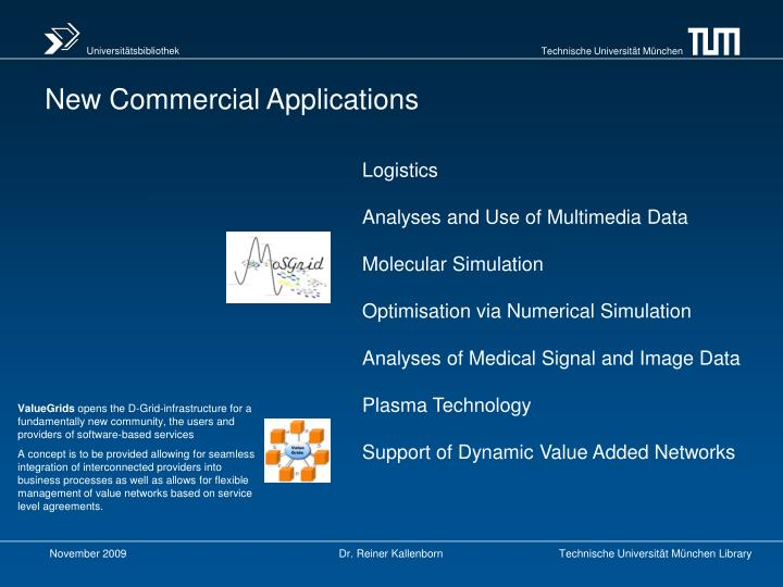 New Commercial Applications