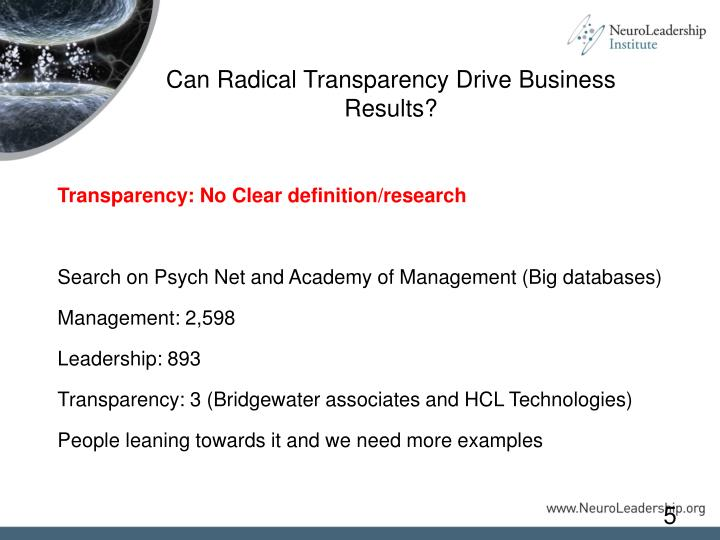 Can Radical Transparency Drive Business Results?