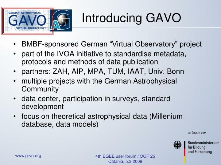 Introducing GAVO