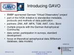 introducing gavo