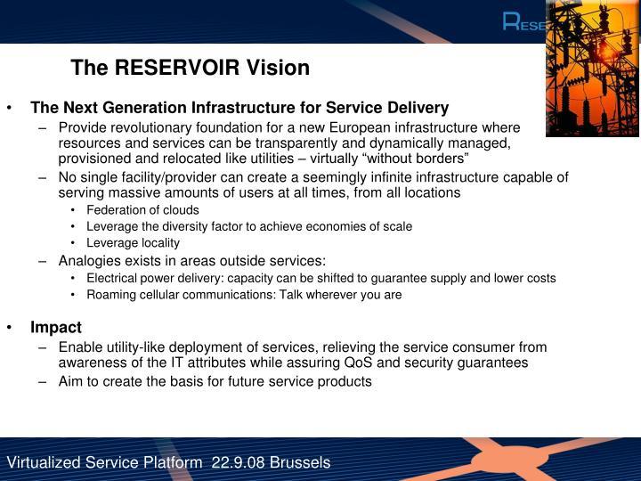The RESERVOIR Vision