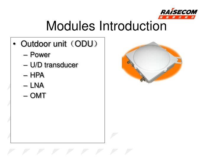 Modules Introduction