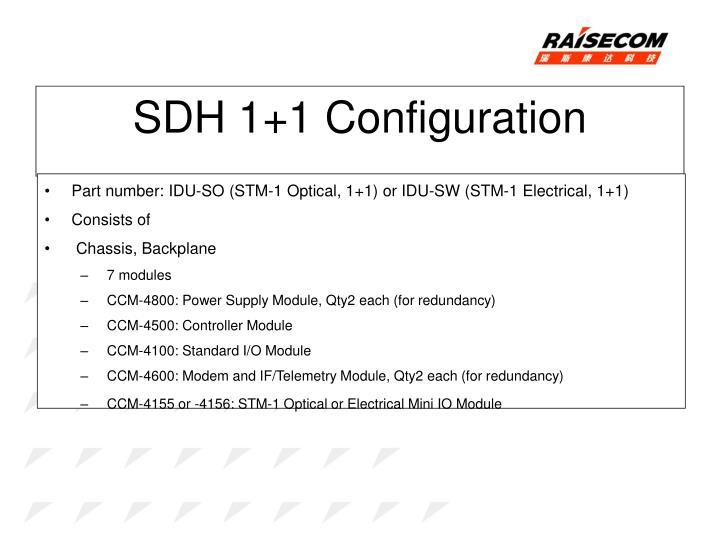 SDH 1+1 Configuration
