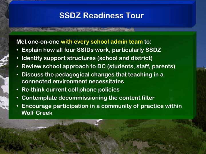 SSDZ Readiness Tour