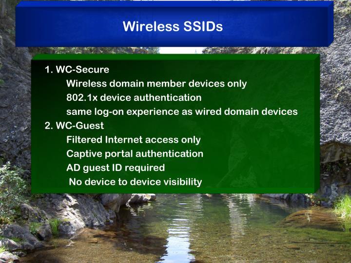 Wireless SSIDs
