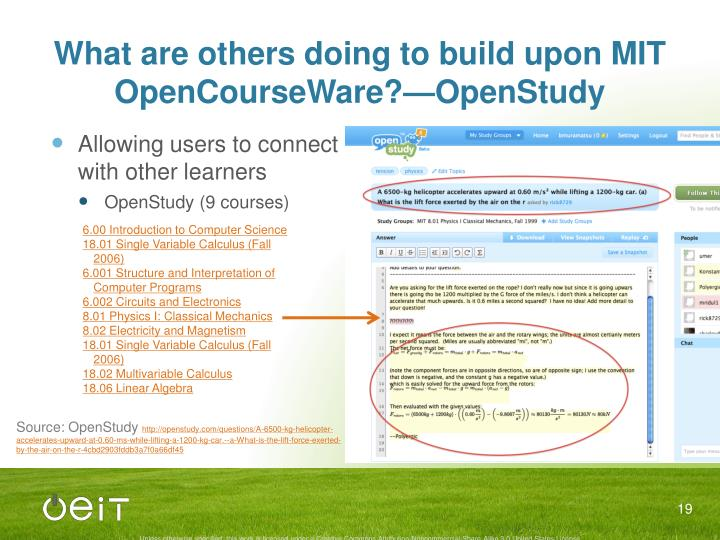 What are others doing to build upon MIT OpenCourseWare?—OpenStudy