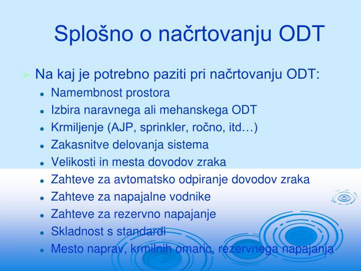 Splošno o načrtovanju ODT
