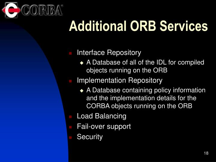 Additional ORB Services