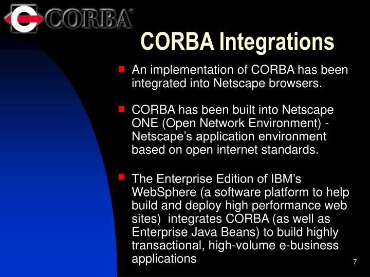 CORBA Integrations