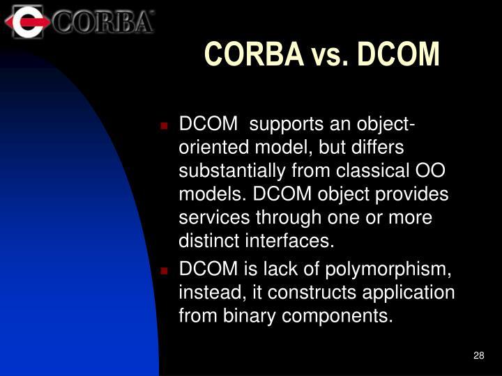 CORBA vs. DCOM