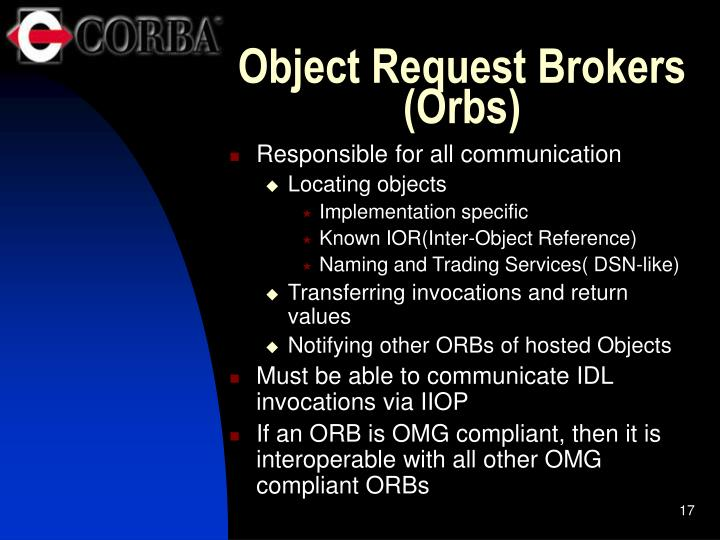 Object Request Brokers (Orbs)