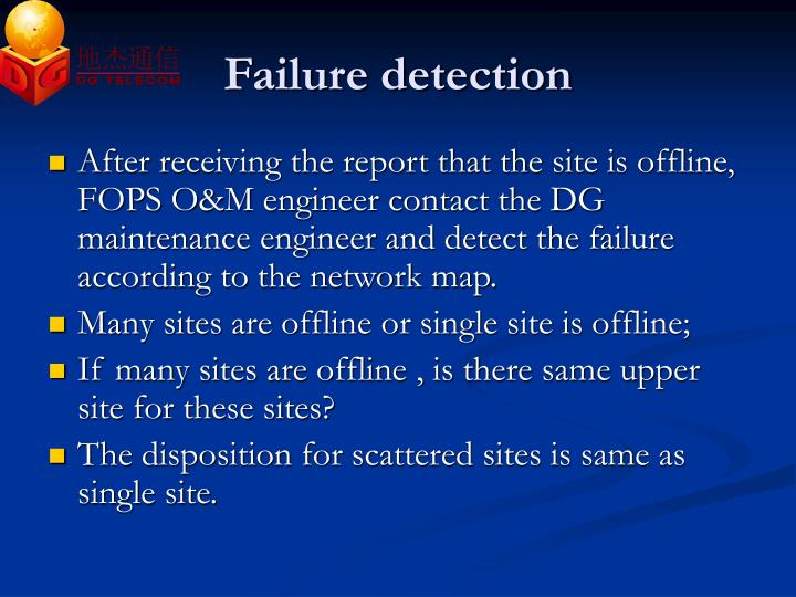 Failure detection