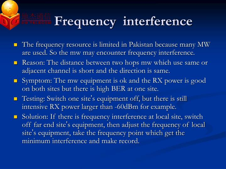 Frequency  interference
