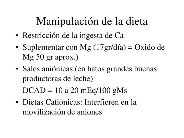 Manipulación de la dieta