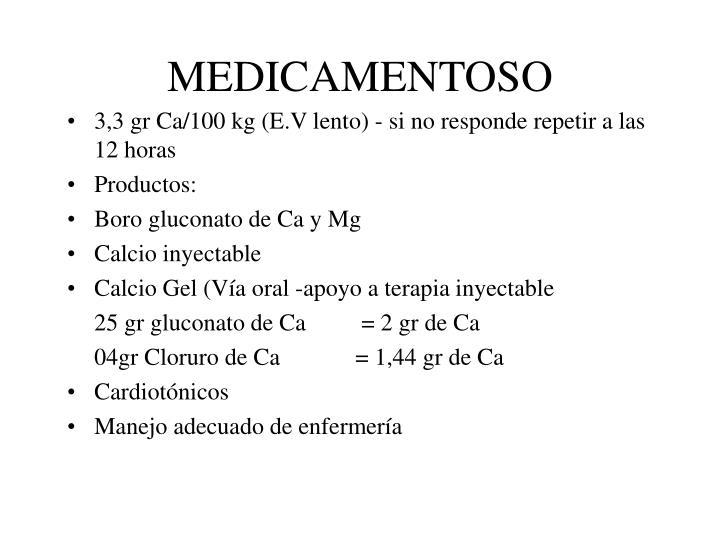 MEDICAMENTOSO