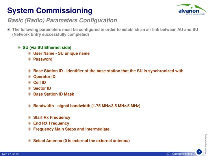 System Commissioning