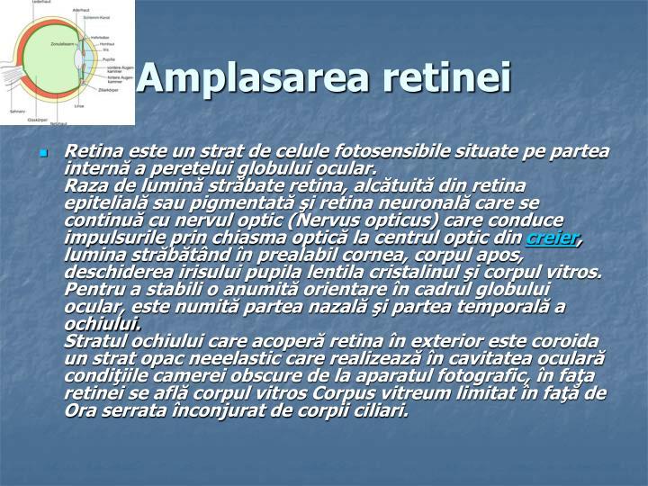 Amplasarea retinei