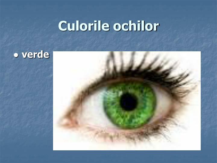 Culorile ochilor