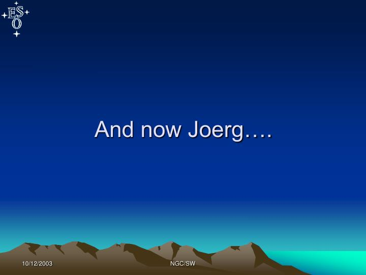And now Joerg….