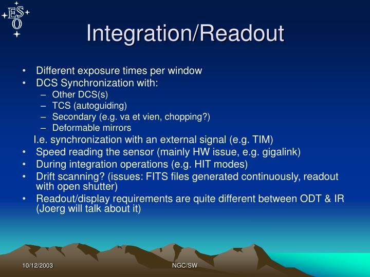 Integration/Readout