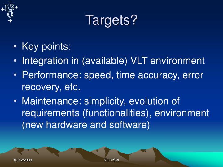 Targets?