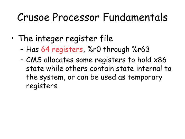 Crusoe Processor Fundamentals