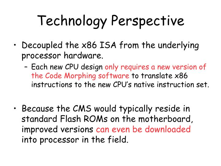 Technology Perspective