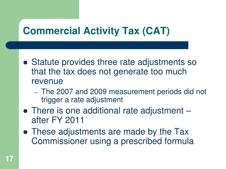 Commercial Activity Tax (CAT)