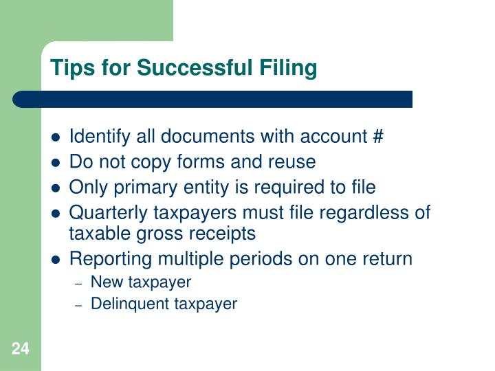 Tips for Successful Filing