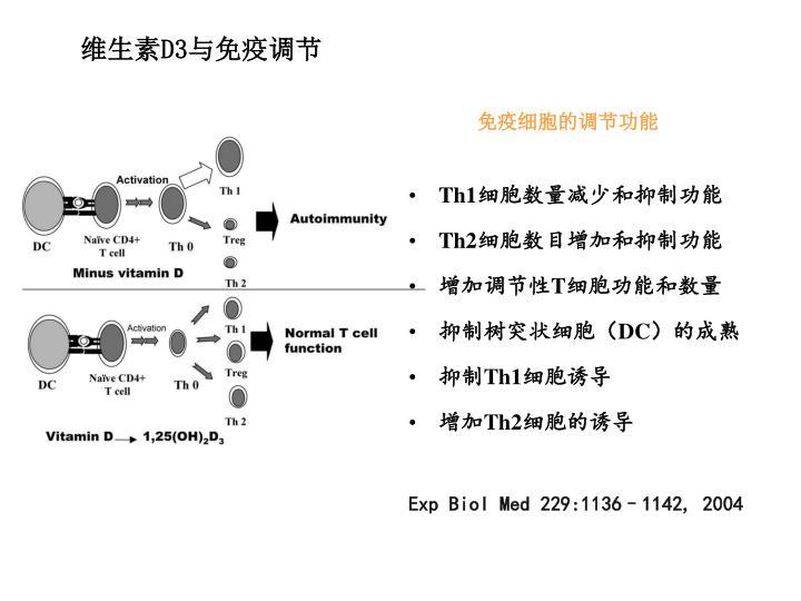 维生素D3与免疫调节