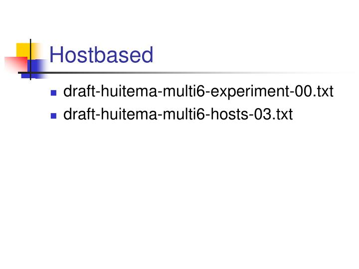 Hostbased