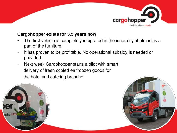 Cargohopper exists for 3,5 years now