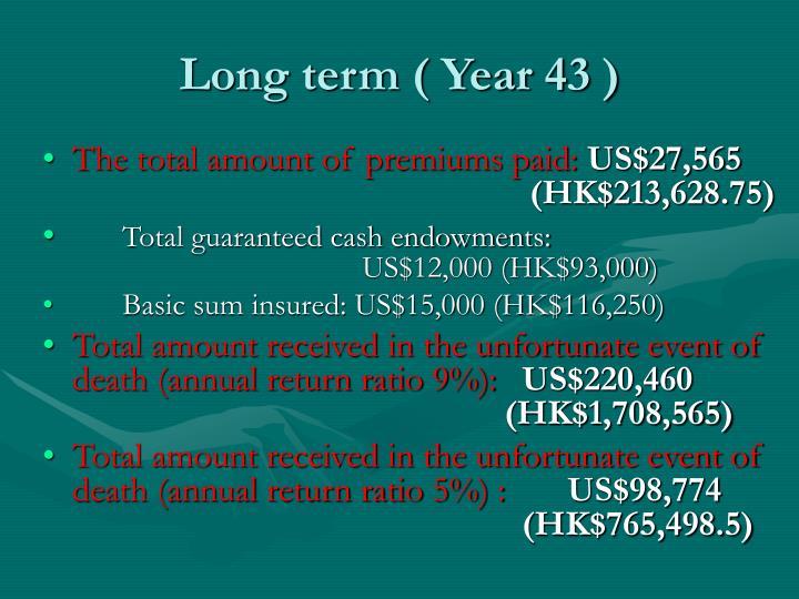 Long term ( Year 43 )