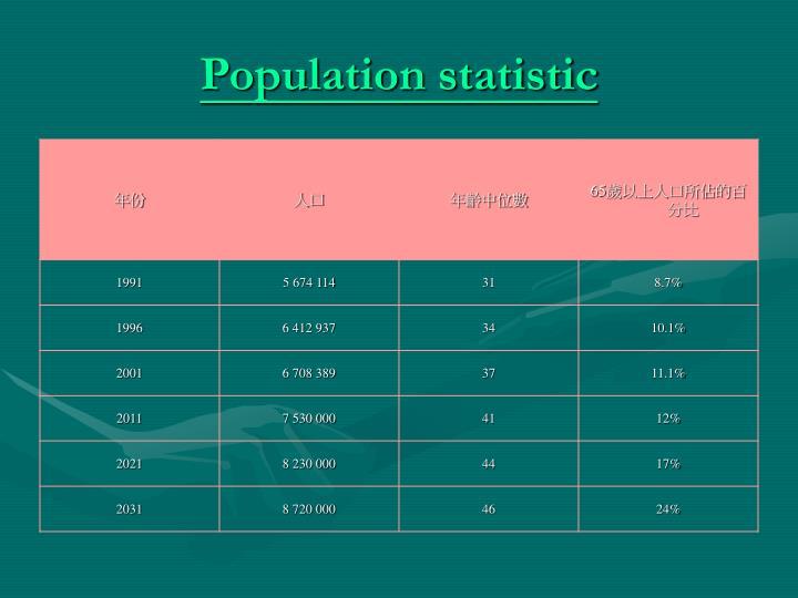 Population statistic