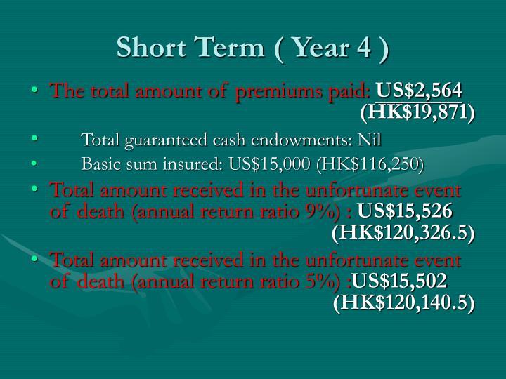 Short Term ( Year 4 )
