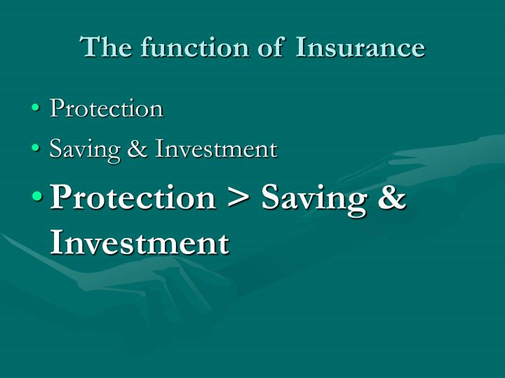 The function of Insurance