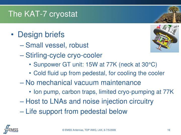 The KAT-7 cryostat
