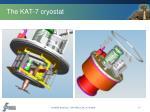the kat 7 cryostat1