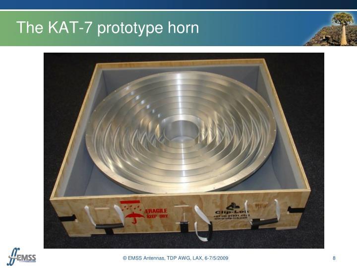 The KAT-7 prototype horn
