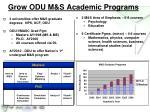 grow odu m s academic programs