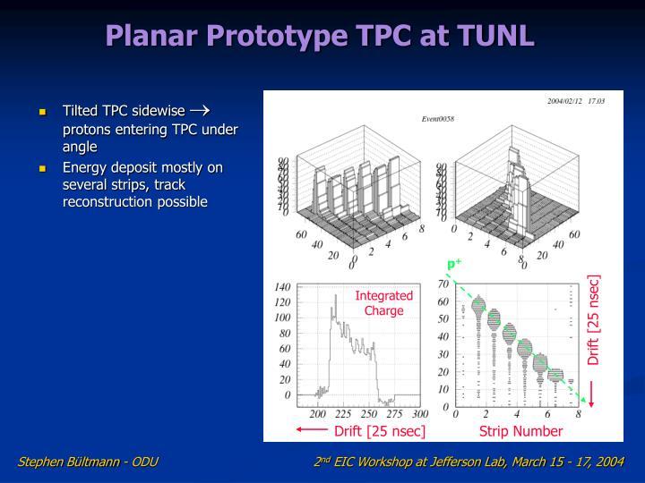 Planar Prototype TPC at TUNL
