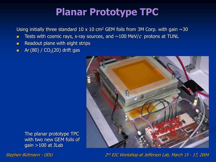 Planar Prototype TPC