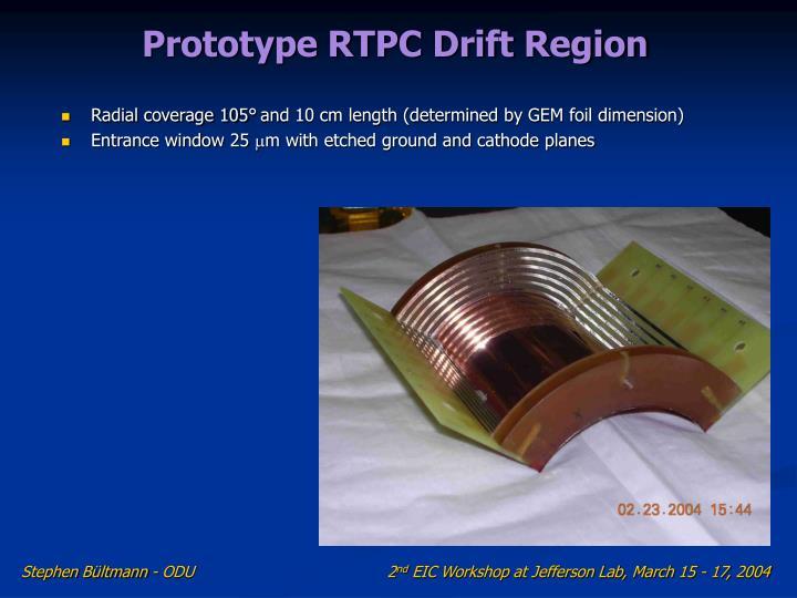 Prototype RTPC Drift Region