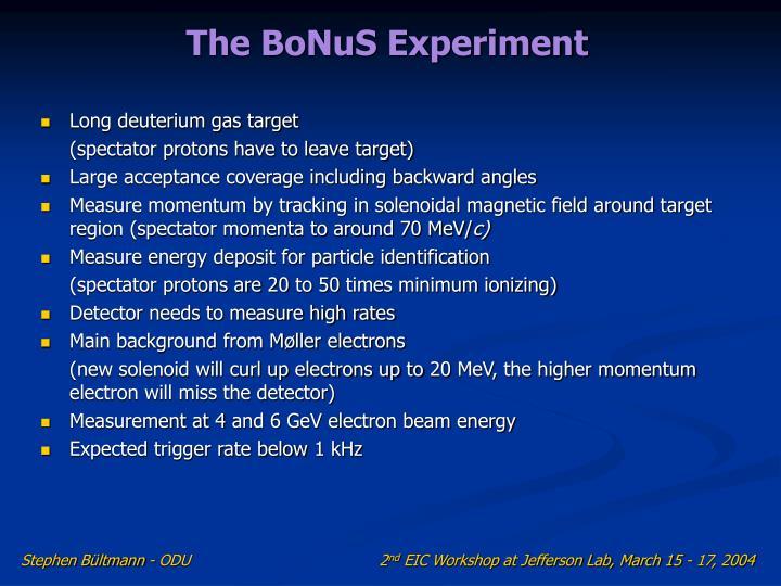 The BoNuS Experiment