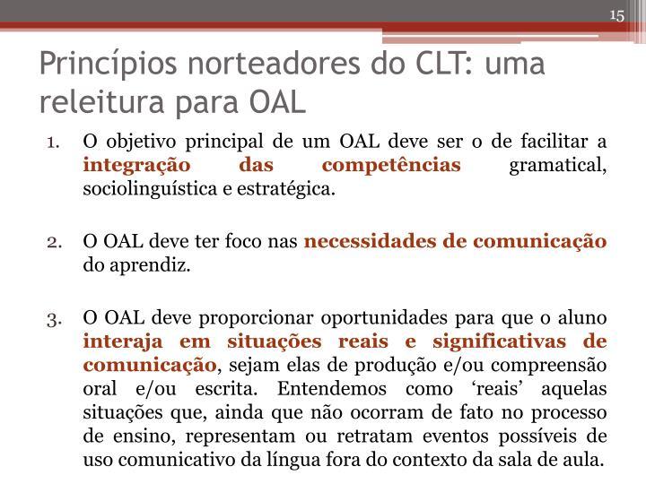Princípios norteadores do CLT: uma releitura para OAL