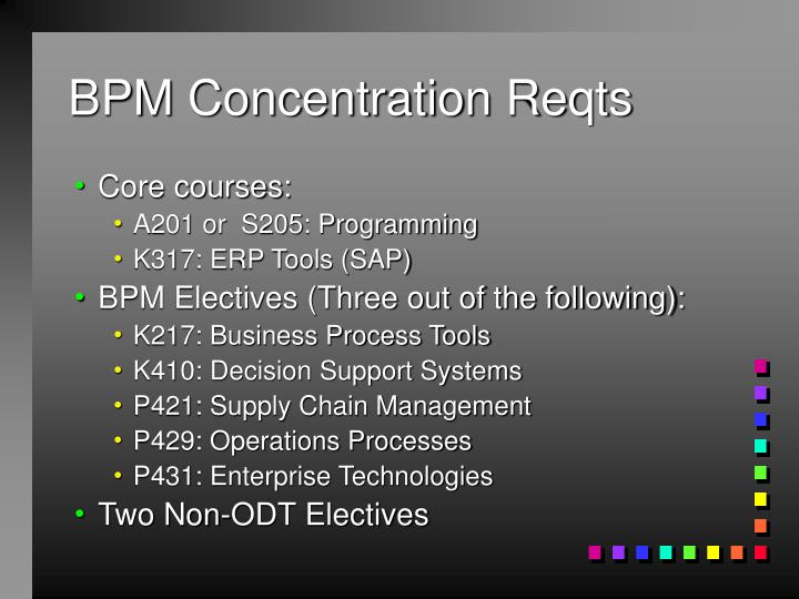 BPM Concentration Reqts